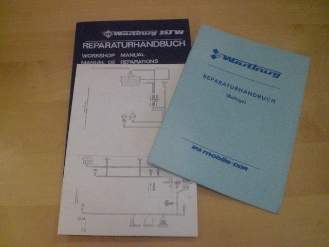 reparatur handbuch ifa wartburg 353 w neu 112080661. Black Bedroom Furniture Sets. Home Design Ideas